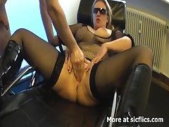Blond milf Nautical port fucked wide pillar not hear be required of insatiable vagina