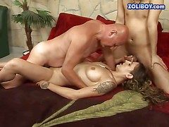 Tattooed brunette streetwalker with nice tits and smarting maddened gets