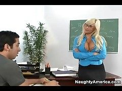 Seductive teacher Puma Swede blows partisan