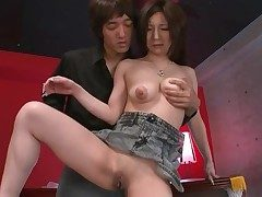 Shaved Japanese vagina pleasured by a toy