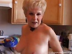 Most assuredly sexy grandma has a sloppy sloppy pussy