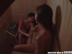 Very first Czech Unexperienced Sauna Spycam Voyeur