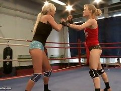 Blond Michelle Raw with fat melons gets the