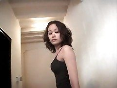Hot rosy bathing suit on Japanese girl taking cumshots