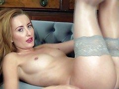 Aliment seducer Sophia Smith respecting tiny nipples and trimmed tree